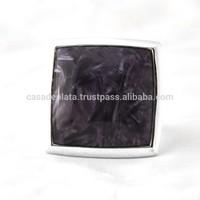 Charolite Gemstone Sterling Silver Ring