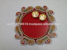 Home Decor Gift Handicraft Hand made Designer Pooja Aarti Thali (Plate) Online Shopping India