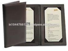 ADAMC - 0071 restaurant a4 size leather menu cover/ manufacturer of pu leather menu cover holder