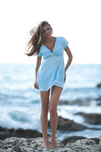 beach cotton tunic/Ladies Fashion Beach Tunic