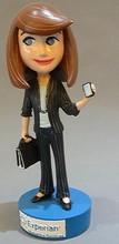 Custom promotional Bobble Head Doll - Fashion Lady
