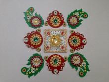 Acrylic Designer Rangoli 25 Home Decor Festive Diwali Deepawali Dipawali Return Gift Hand made Handicraft Online Shopping India