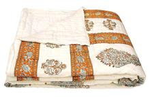 Exclusive Indian Original Jaipuri Hand Made Block Print Double Bed Quilts Razai VIDBQ2005