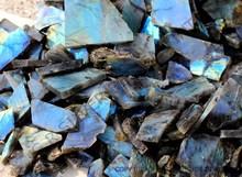 Labradorite Rough, Blue Labradorite, Labradorite, Gemstone, High Quality Black Rainbow