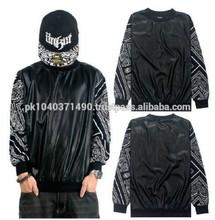 NEW graffiti hip-hop men's sleeve t-shirt clothes casual man Long sleeve/Bandana Print Black White