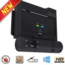 HD car dash cam_GPS Tracking_Car BlackBox_3ch_GPS_G-sensor