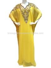 2014 Cheap Persian Elegant Kaftan Long Chiffon Modern Kaftan