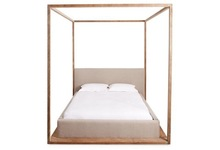 Climpex Full Poster cum Canopy Solid Wooden Bed ( Sheesham Wood )