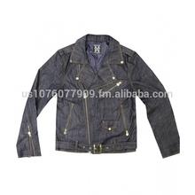 Michael Cherry Denim Motorcycle Jacket