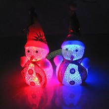 Shining Christmas Snowman Doll Toy XMAS Tree Hanging Ornament Decor For Kid Gift