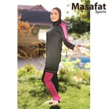 Farida - Black & Purple Islamic Swimming Suits High Quality