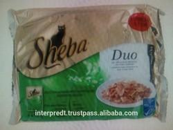 sheba cat food, flakes