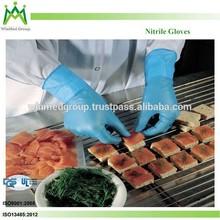 gloves manufacturer good selling Food Grade Blue Nitrile Glove