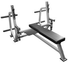 Olympic Weight Bench with Spotter Stand and Plate Storage Pegs - BF-49 - Workout Bench, Weight Bench