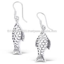 Fish Plain Silver Hook Luxury Women Dangle Wholesale Firectory Direct Cheap Price Jewelry
