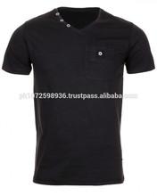 100% Cotton Men's Gym T-Shirt/V-Neck Pocket T-Shirt/Custom Fashion T-Shirt
