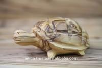 Olive Wood Carved Feng Shui Turtle