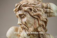 Olive Wood Carved Jesus Christ Figure