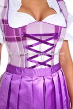 New Style German,Springfest,Trachten,Oktoberfest,Halloween,Dirndl,3-pc.6,Purple,Plum