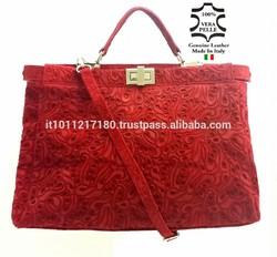 LEATHER BAGS HANDBAG, REAL LEATHER BAG MADE IN ITALY HANDBAGS ITALIAN BAG SHOULDER 128
