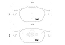 BRAKE PADS FRONT FORD - TRANSIT CONNECT WVA 23440