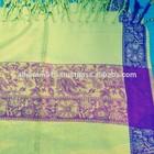 New arrival checkpost flower acrylic winter scarf shawl arab latest fashion new