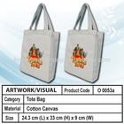 Cotton canvas shopping tote bag