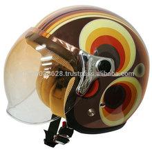 RETRO MODERN Left-right asymmetric design helmet BLUE