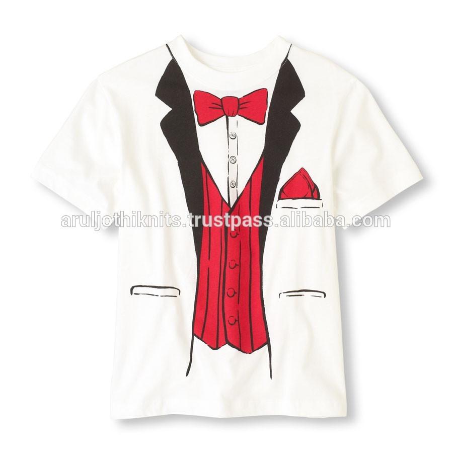 Shirt Tuxedo Print Boys Tuxedo Print t Shirt