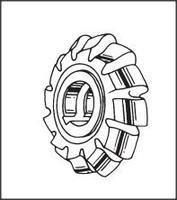02112700 Roller Chain Sprocket Milling Cutter