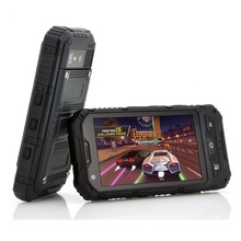 """waterproof dual core dual sim 3G rugged cell phone android 4.2 4"""" IPS 512MB 4GB military quality cell phone GPS WIFI BT"""