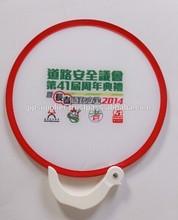 Folding Fan with Hook Plastic Handle