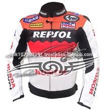 honda repsol motosiklet motosiklet ce korumalı deri ceket