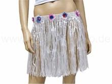 Raffia bast hawaii hula skirt white