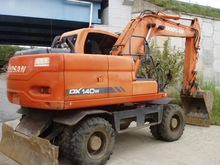 2008Y Doosan Daewoo Wheel Used Excavator DX140W with Hammer in Korea