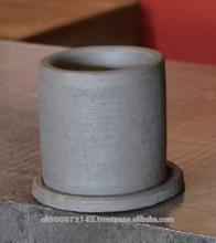 Traditional and premium small plant pot Japanese KAWARA for decoration
