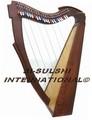rosewood harp celta 26 cordas com alavancas