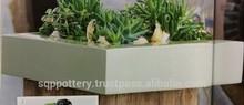light cement pottery pots , cement planters for flower garden decoration