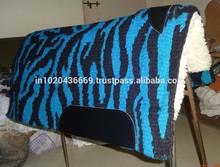 Zebra Pattern Western Saddle Pad Newzealand wool