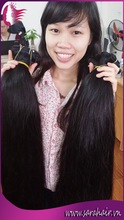 Virgin Human Hair Extension can be bleached and dyed directly For Customers Requirement