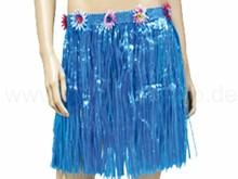 Raffia bast hawaii hula skirt blue