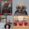 Japonés hecho a mano y disfraz samurai hina ningyo/gogatsu ningyo muñeca para celebraciones