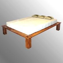 SOLID TEAK WOOD FLAT SIMPLE BED DESIGN