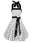 Vintage Rockabilly Full Skirt Swing Dress Ladies Polka Dot Dress L1696(polka dot rockabilly dress)