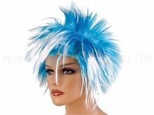 Short Punk Hair Style wig white/blue