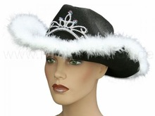 Crazy hats for Carnival and Party crazy black cowboy hat