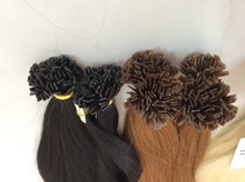 Flat tip, I,U,V tip Italian keratine double drawn hair extension