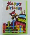 fumetto gatto dei bambini buon compleanno biglietto di auguri