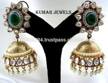 Antique Gold Jhumka Earrings
