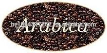 arabica e robusta chicchi di caffè verde